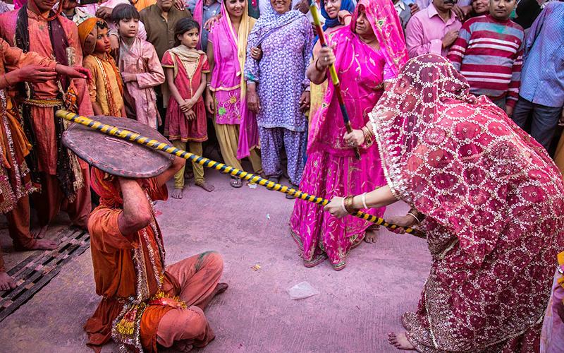 lathmar holi at barsana and nandgaon india