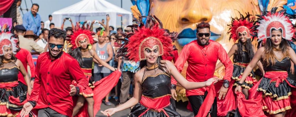 Goa carnival festival celebration red