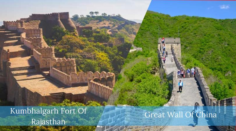 Kumbhalgarh Fort Of Rajasthan VS Great Wall Of China